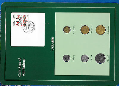 Coin Sets of All Nations Ukraine 1992 and 1994 w/card see pictures