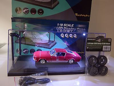 1:18 Scale LED display case+Bonus 1:18 scale Shelby GT-500 Wheel set RRP $32.50