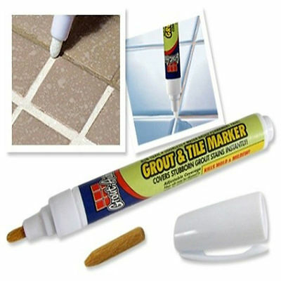 Grout Aide Tile Marker White Color Repair Wall Pen Packaging As Seen On TV