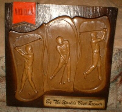 Rare Michelob Beer Embossed Molded Plastic Golf Sign 1993 Look!!!