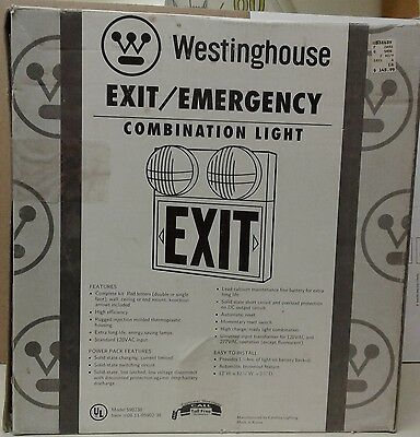 Westinghouse Exit/emergency Combination Light, Model #ca 96 0973 V 106