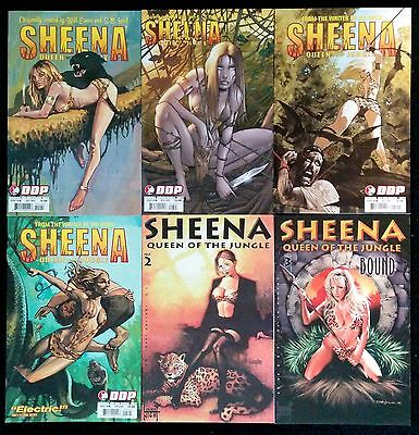 Sheena Queen of the Jungle #2 and #3 (London Night), #2, 3, 4, 5 (DDP).