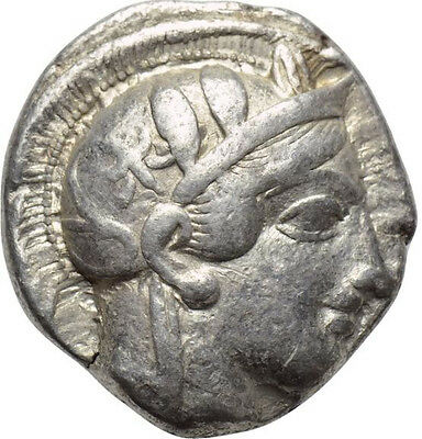Athens Attica Silver Tetradrachm 454- 404 BCE Full Crest! Of the Highest Quality