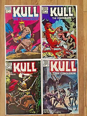 Kull the Conqueror #1,#1, # 2,# 2 Marvel comic lot 1982 N/M 9.0 or better
