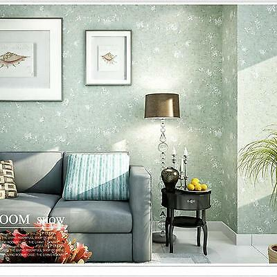 10M Roll Non-woven Abstract Art Home Luxury Project Wall Paper Wallpaper Green