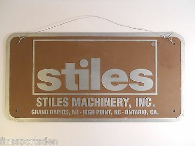 STILES MACHINERY Metal Advertising Sign ~ Grand Rapids High Point Ontario