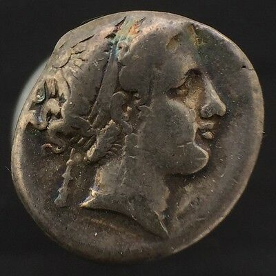Neapolis Campania Silver Nomos Didrachm Stater 325-241 BCE Authentic Ancient