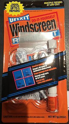 UFIXIT Windscreen Repair Kit DIY, fixes Cracks, Stars, Chips and Bull's- Eyes