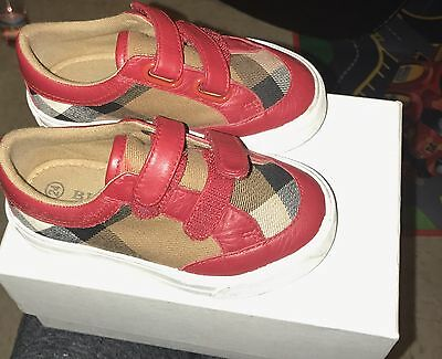 Toddler Burberry Shoes size 24