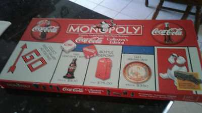 Hasbro Coca Cola Monopoly opened box  1999 Collectors Edition