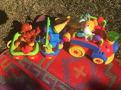 Fisher Price animals sing & go choo choo train (as new condition)