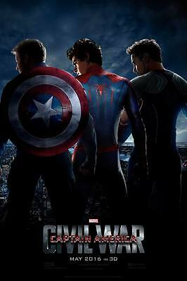 "DY00063 Captain America 3 Civil War - 2016 Hot Movie Film 24""x36"" Poster"