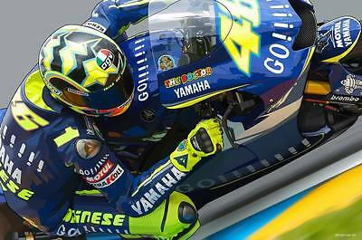 "TY07388 Valentino Rossi - NO 46 MotoGP Riders Star Sport 36""x24"" Poster"