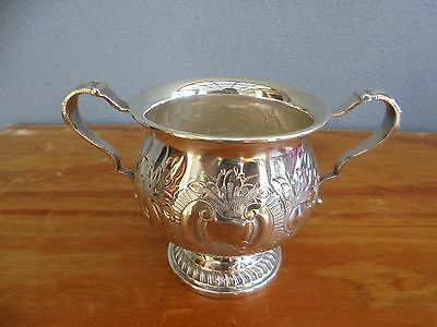 Vintage/Antique Silver Plate on Copper Hand Crafted Sugar Bowl made in England