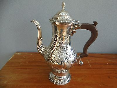 Vintage/Antique Silver Plate on Copper Hand Crafted Tea Coffee Pot  made in UK