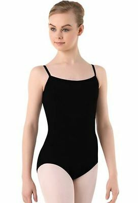 Balera Black Cotton camisole Leotard dance ballet szPA (Petite Adult) BNWT (12)