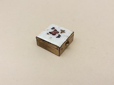 Antique Japanese Ginbari Cloisonne Pill Box