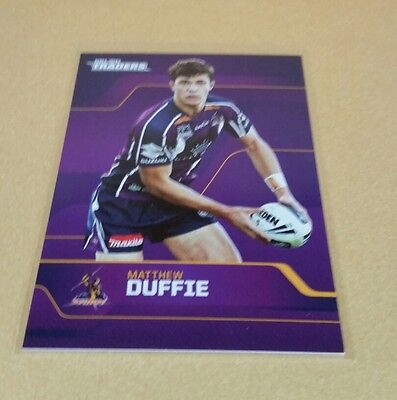 Melbourne Storm Nrl 2013  Traders Card Matthew Duffie