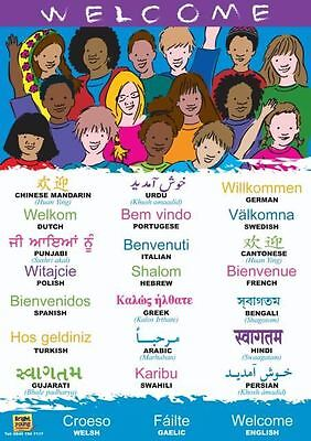 Multilingual Welcome Poster In 24 Languages (A2)