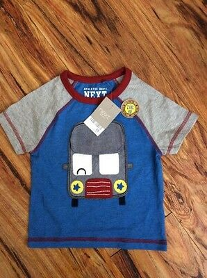 Next baby boy novelty t-shirt 6-9months.Blue.BNWT. Holidays/baby gift.RRP£6