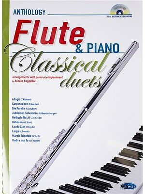 Andrea Cappellari Classical Duets Flute Piano CD Learn to Play MUSIC BOOK & CD