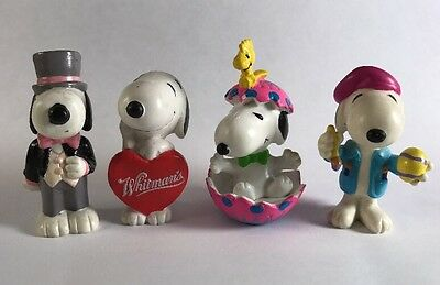 Peanuts Snoopy Woodstock PVC Figures Whitman's Lot Cake Toppers