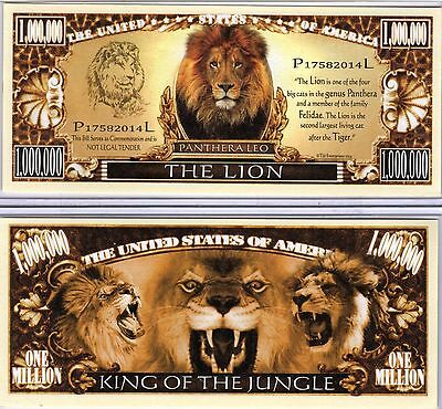 The Lion - Panthera Series Million Dollar Novelty Money
