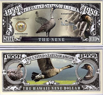The Nene - Hawaii State Bird 1959 Novelty Money