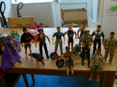 ACTION MAN FIGURES AND  ACCESSORIES JOB LOT FROM THE 90s.