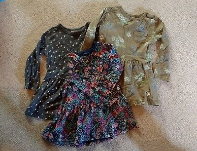3x Next baby girl long sleeve dresses, 12-18 months in good, used condition.