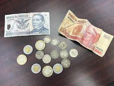 Mexico Pesos world foreign coins and paper money lot Exchangable