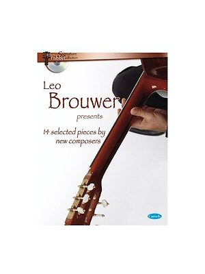 Leo Brower Presents 14 Selected Modern Composition Play GUITAR MUSIC BOOK & CD