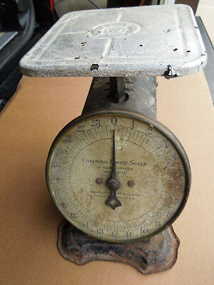 Vintage 1907 Columbia Family Scale Landers Frary & Clark 24 Pounds By Ozs