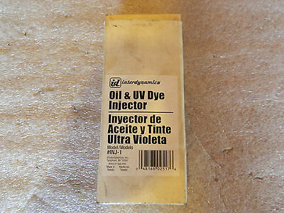Brand New Interdynamics Inj-1 Oil & Uv Dye Injector Free Shipping From The Usa!!