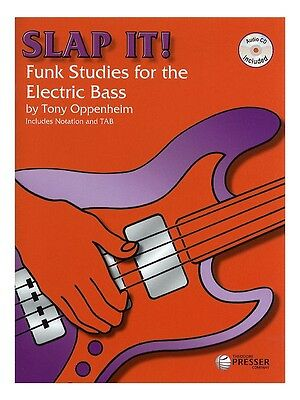 Tony Oppenheim Slap It Funk Studies for the Electric Bass GUITAR MUSIC BOOK & CD