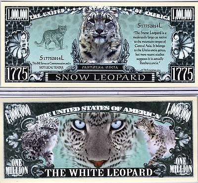 The Snow Leopard - Panthera Series Million Dollar Novelty Money