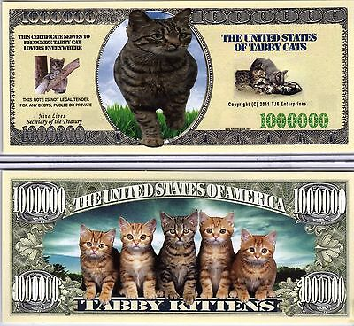 The Tabby Cat - Cat Series Million Dollar Novelty Money