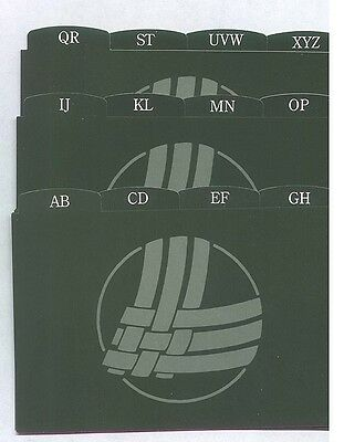 12 Longaberger 4 x 6 Alphabet Dividers for your Shades of Autumn Recipe Cards