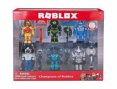 Roblox Champions of Roblox 6 Figures Playset Series 1 Exclusive Virtual Item