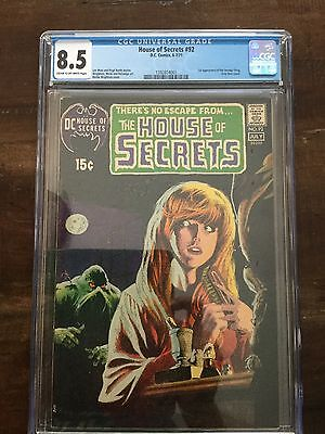 House of Secrets 92 CGC 8.5 VF+ DC 1971 1st App Swamp Thing Wrightson