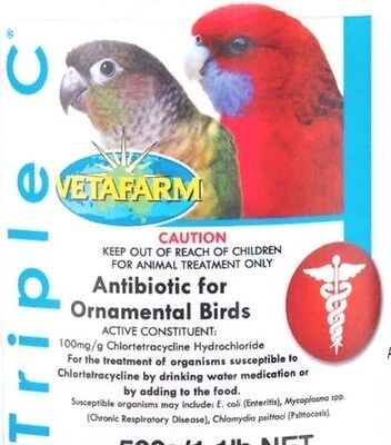 Antibiotic Fast Treatment For Sick Stressed Pet Birds, Finches, Parrots, Pigeons