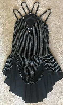 Art Stone Adult Size Large Dance Costume Jazz Black with Silver