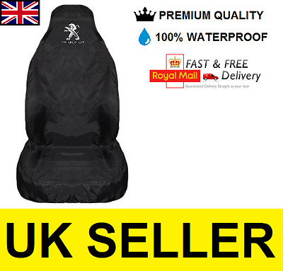 Peugeot 208 Premium Car Seat Cover Protector / 100% Waterproof / Black