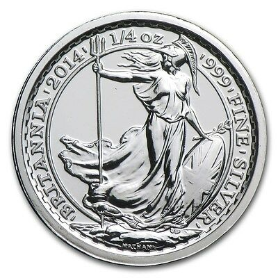2014 1/4 oz S.S. Gairsoppa British Silver Britannia Coin BU with Light Scratches