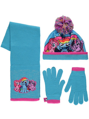 Girls My Little Pony Hat Scarf & Gloves Set Age's 4-8 Years  8-12 Years NEW