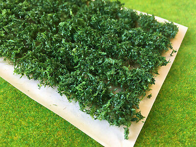 Dark Green Leafy Bush Tufts - Static Grass Model Railway Scenery Warhammer Large