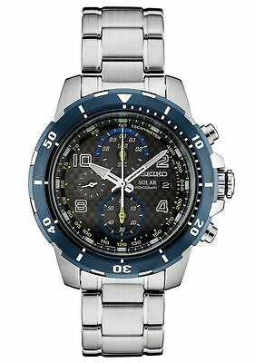 SEIKO New Special Edition JIMMY JOHNSON Nascar Solar Chronograph WATCH SSC637