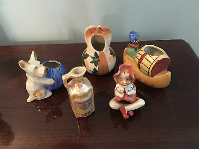 5 Vintage Figures from Occupied Japan