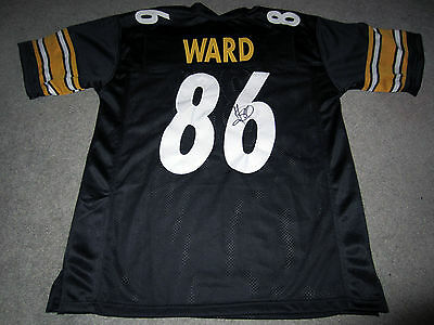HINES WARD Pittsburgh Steelers Autographed SIGNED Custom Jersey w  COA XL e371d66e9