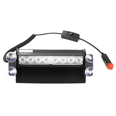 8 LED Strobe Dash/ Deck/ Windscreen Light Bar Beacon (Yellow) G2U5